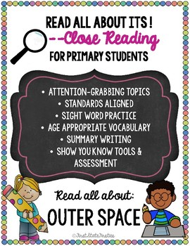 """Close Reading """"Read All About Its"""" - OUTER SPACE pack"""