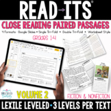 Close Reading Read-Its {LEXILE Leveled} Distance Learning