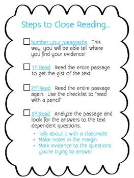 Close Reading:  Read With A Pencil