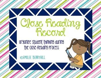 Close Reading Record