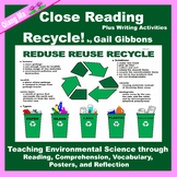 Close Reading: Recycle! by Gail Gibbons