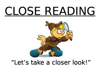 Close Reading Reminders Bulletin Board Posters!