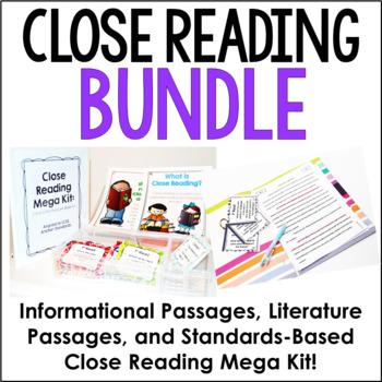 Close Reading Resources Bundle {4th-6th Grade Common Core}