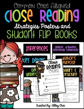 Close Reading Resources (Strategy Posters & Student Flip Books)