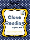 Close Reading Response Sheets