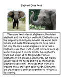 Close Reading ~ Safari Animals: Expository Text