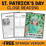 St Patricks Day Close Reading Passage Activities