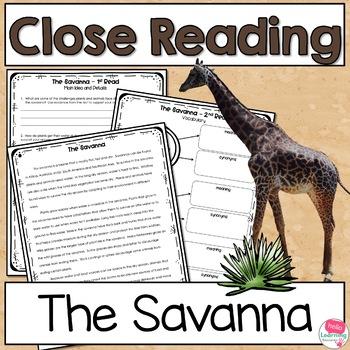 Close Reading Savanna Biome