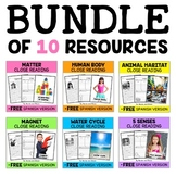 Science Close Reading Passages Bundle