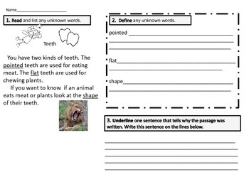 Close Reading Science First Grade