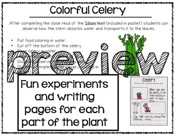 Parts of a Plant: Integrated ELA and Science Research Pack