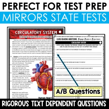 Life Science Reading Passages and Writing Prompts BUNDLE