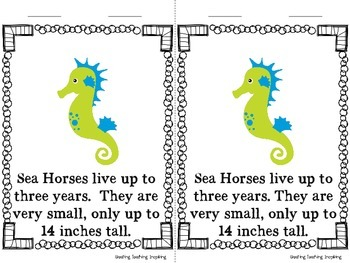 Close Reading -- Sea Horses