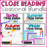 Close Reading Seasons Bundle