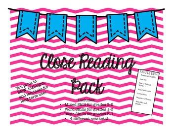 Close Reading Set