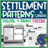 Settlement Patterns in Canada Print & Digital FREEBIE