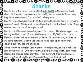 Close Reading -- Sharks