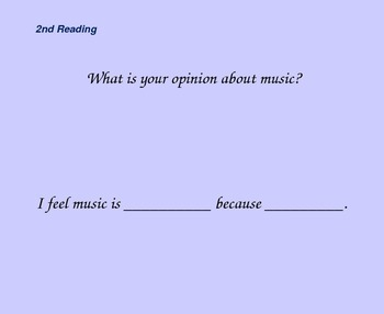 Close Reading Slides for Ah, Music!