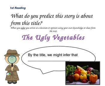 Close Reading Slides for The Ugly Vegetables
