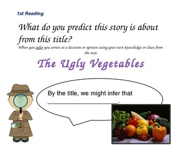Close Reading Slides for The Ugly Vegetables