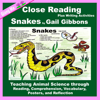 Close Reading: Snakes by Gail Gibbons