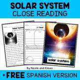 Close Reading Passage - Solar System Activities