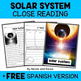 Solar System Close Reading Passage Activities