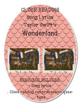 "Close Reading Song Lyrics:  ""Wonderland"" by Taylor Swift"
