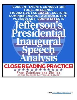 Close Reading Speech Analysis: Thomas Jefferson's Inaugural Speech