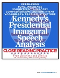 JFK's Inaugural Speech: Close Reading & Constructed Response