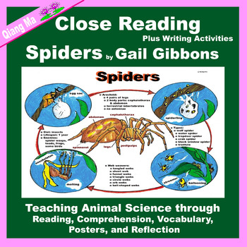 Close Reading: Spiders by Gail Gibbons
