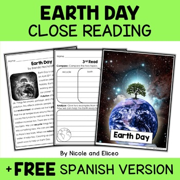 Close Reading Passages - Spring Activities