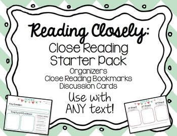 Close Reading Starter Pack for Grades 3-5 freebie