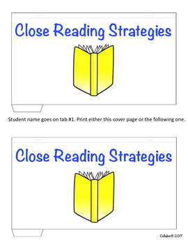 Close Reading Strategies Tab Book