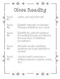 Close Reading Steps