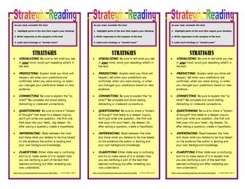 Close Reading: Strategic Reading Bookmark