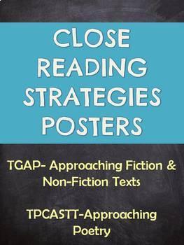 Close Reading Strategies Posters-TPCASTT and TGAP