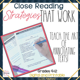 Close Reading Strategies-Teach your students how to annota