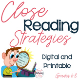 Close Reading Strategies (Text Annotation to Support Readi