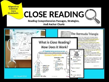 Reading Comprehension Passages with Close Reading Strategies  CCSS RL.4.1