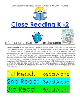 Close Reading Strategy Adapted for K-2