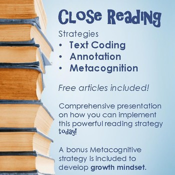 Close Reading Strategy - Annotation and Text Coding lesson plans