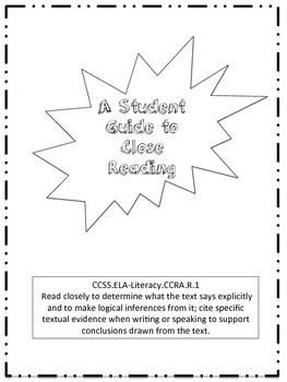 Close Reading Student Guide