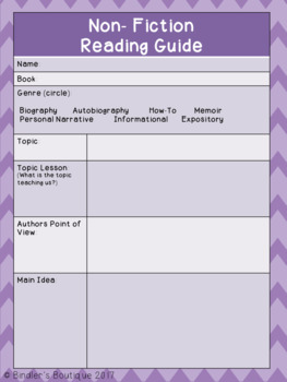 Guided Reading Student Support Pages