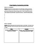 Close Reading: Summarizing Activities