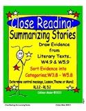 Close Reading Story Elements Summarizing Stories