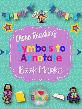 Close Reading Symbols Bookmark for Annotating Text