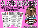 Close Reading Symbols - Notes Page and Bookmarks
