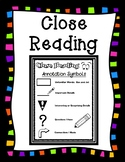 Close Reading Annotation Symbols for Any Fiction or Nonfiction Text