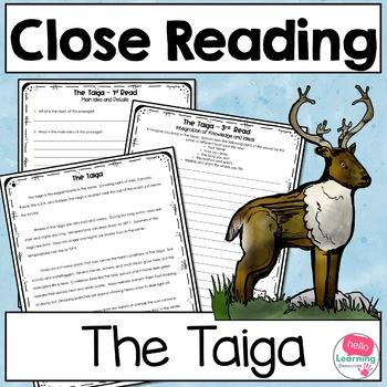 Close Reading Taiga Biome